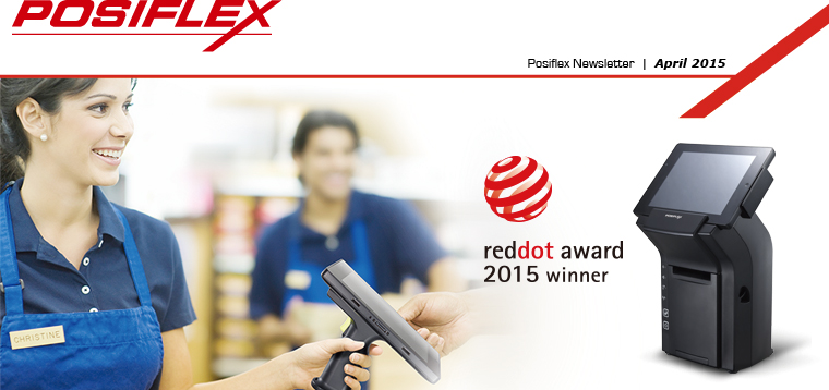 Posiflex Receives Red Dot Product Design Award for its Hybrid Mobile POS solution �V MT-4008W